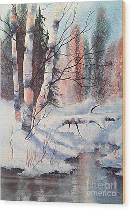 Alaska Birch II Wood Print by Teresa Ascone