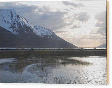 Alaska Highway Wood Print