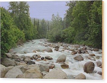 Alaska - Little Susitna River Wood Print by Kim Hojnacki