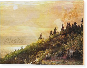 Wood Print featuring the photograph Alaska Montage by Ann Lauwers