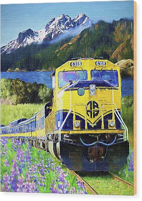 Alaska Railroad Wood Print