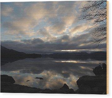 Alaska Reflections Wood Print by Karen Horn
