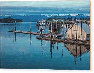 Alaska Seaplanes Wood Print by Mike Reid