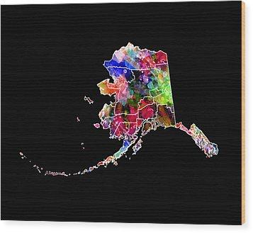 Alaska State 2 Wood Print by Daniel Hagerman