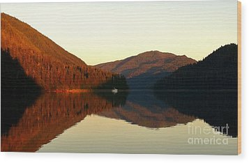 Alaskan Anchorage Wood Print by Laura  Wong-Rose