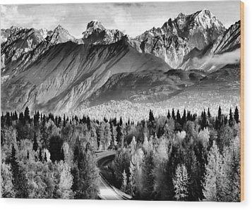 Alaskan Mountains Wood Print