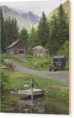 Alaskan Pioneer Mining Camp Wood Print