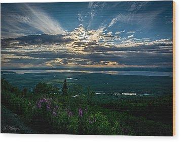 Alaskan Summer Sunset Wood Print