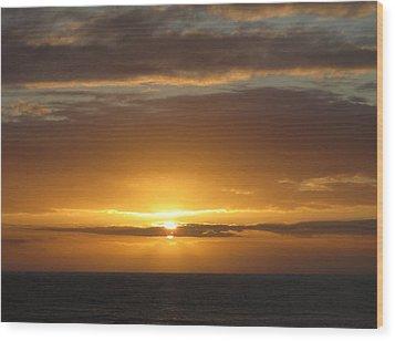 Wood Print featuring the photograph Alaskan Sunset by Jennifer Wheatley Wolf
