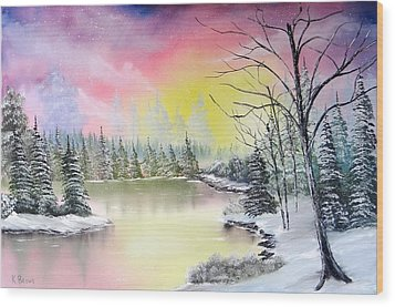 Alaskan Sunset Wood Print by Kevin  Brown