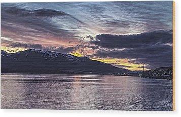 Alaskan Sunset On The Tongass Narrows Wood Print by Timothy Latta