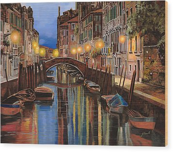 alba a Venezia  Wood Print by Guido Borelli