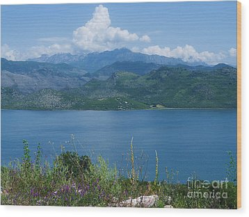 Albania From Lake Skadar Wood Print