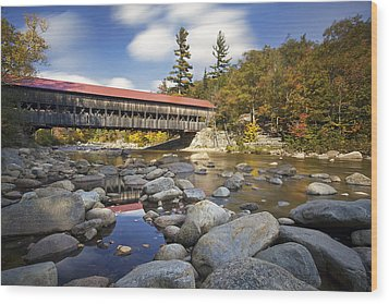 Albany Covered Bridge Wood Print by Eric Gendron