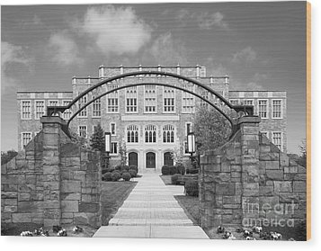 Albany Law School Gate Wood Print by University Icons