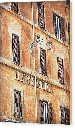 Albergo Abruzzi Wood Print by Valentino Visentini