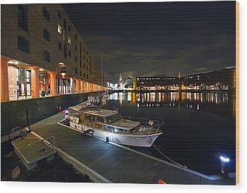 Albert Dock Liverpool Wood Print by Wayne Molyneux
