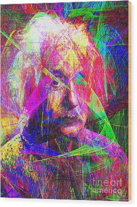 Albert Einstein 20130615 Wood Print by Wingsdomain Art and Photography