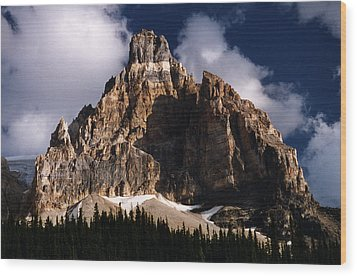 Alberta Canada  Mt. Peak Wood Print