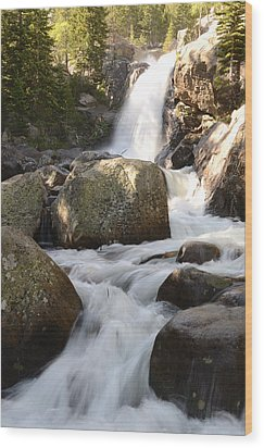 Alberta Falls Wood Print by Tranquil Light  Photography