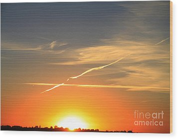 Alberta Sunset Wood Print