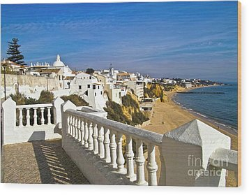 Albufeira Village By The Sea Wood Print by Heiko Koehrer-Wagner