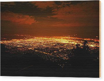 Albuquerque New Mexico  Wood Print by Jeff Swan
