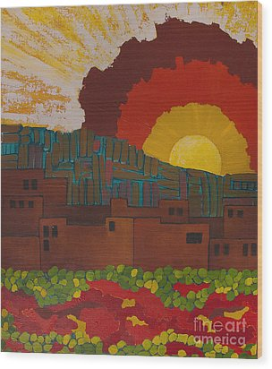 Albuquerque Nm Wood Print by Lena Wilhite