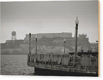 Wood Print featuring the photograph Alcatraz by Alex King
