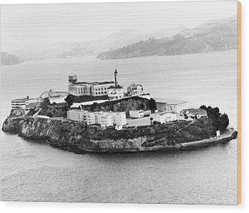 Alcatraz All Alone Wood Print by Retro Images Archive