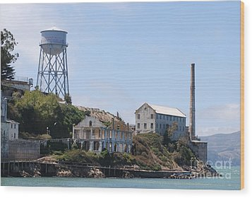 Wood Print featuring the photograph Alcatraz by George Mount