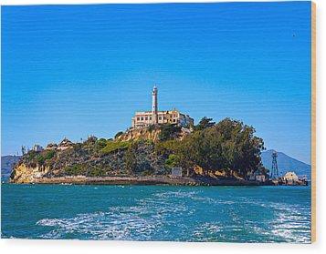 Alcatraz Island Wood Print by James O Thompson