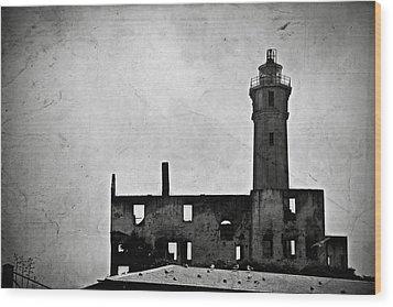Alcatraz Island Lighthouse Wood Print by RicardMN Photography