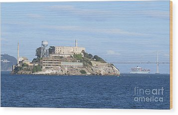 Alcatraz Island Wood Print by Mary Mikawoz