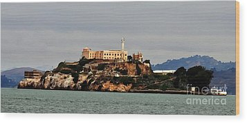 Alcatraz Island - The Rock Wood Print