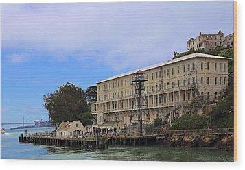 Alcatraz  Building 64 Wood Print by Viktor Savchenko