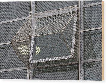 Alcatraz Window Wood Print by Art Block Collections
