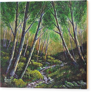 Alder Creek Wood Print