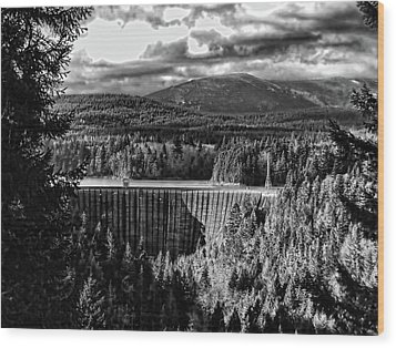 Alder Dam Near Mt Rainer Wa Wood Print by Ron Roberts