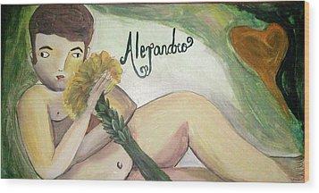 Alejandro Wood Print by Vickie Meza