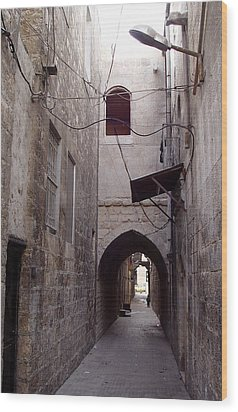 Aleppo Alleyway04 Wood Print by Mamoun Sakkal