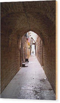 Aleppo Alleyway06 Wood Print