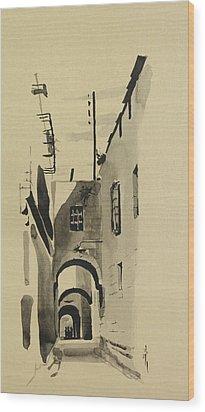 Aleppo Old City Alleyway 1 Wood Print