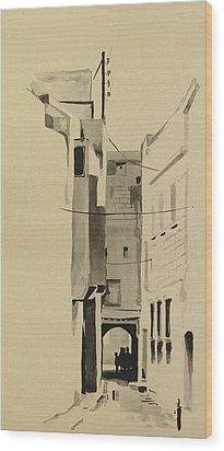 Aleppo Old City Alleyway 2 Wood Print