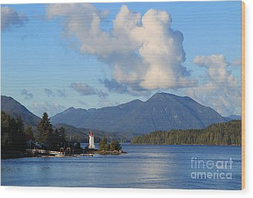 Alert Bay Alaska Wood Print by Jeanette French