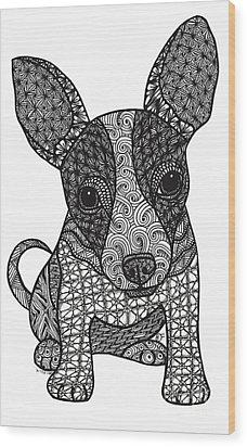 Alert - Chihuahua Wood Print