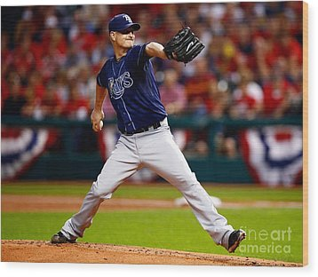 Alex Cobb #53 Wood Print