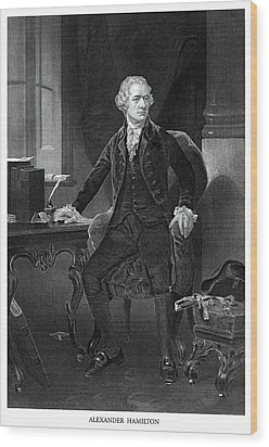 Alexander Hamilton Wood Print by Historic Image
