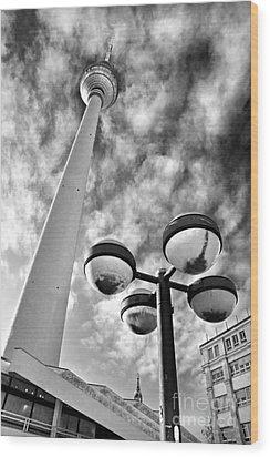 Alexander Platz - Berlin Wood Print by Luciano Mortula