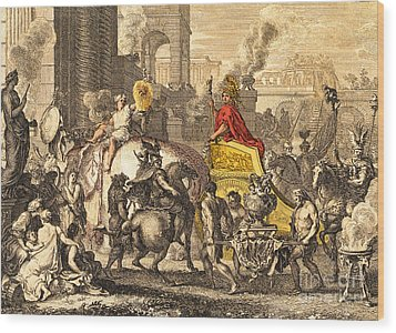 Alexander The Great Entering Babylon Wood Print by Getty Research Institute